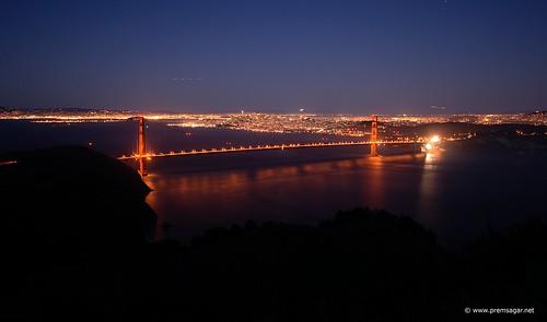 Golden Gate in twilight
