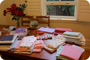 the sewing/ dining table