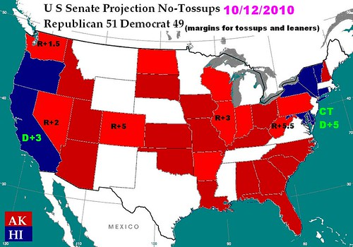 US Senate Projection 10/12/2010