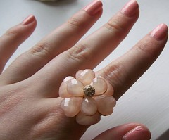 Primark Peach Flower Ring