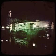 Die Ponte Vecchio bei Nacht, Florenz
