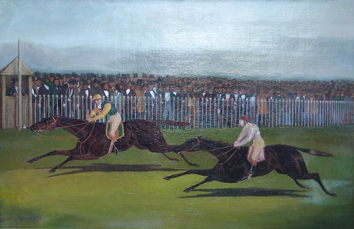 The Flying Dutchman and Voltigeur in the Great Match at York on the 13th May 1851, after J F Herring