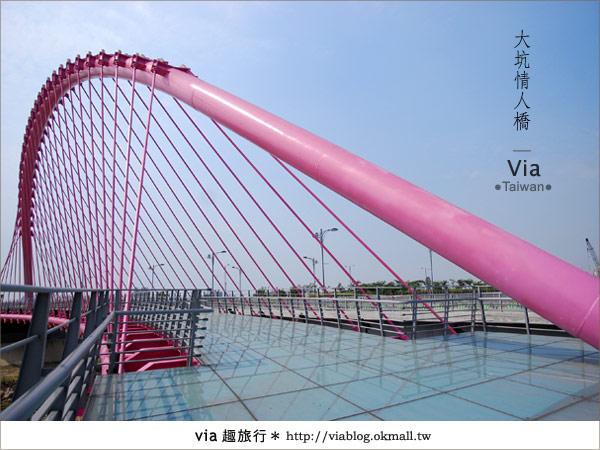 【大坑情人橋】新的台中約會景點~浪漫粉紅色情人橋3
