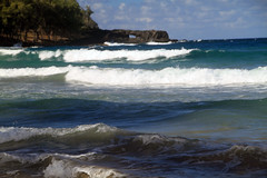 Ocean at Black Sand Beach, Waianapanapa State Park (susanreep) Tags: hawaii bluewater maui hana coastline kokibeach waianapanapastatepark blacksandbeach redsandbeach