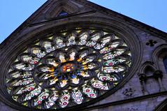 Illuminating York installation on the South Transept (York Minster) Tags: york light south minster transept illuminating