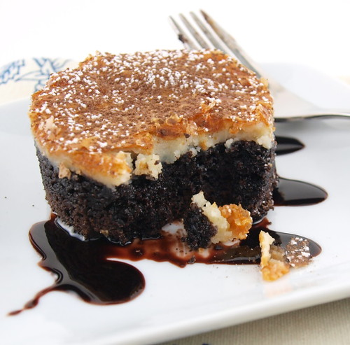 Black and White Gooey Butter Cake
