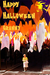 Happy Halloween! (Felix Cifuentes) Tags: halloween photoshop poster abuela granny abuelita grcia cartel divertida