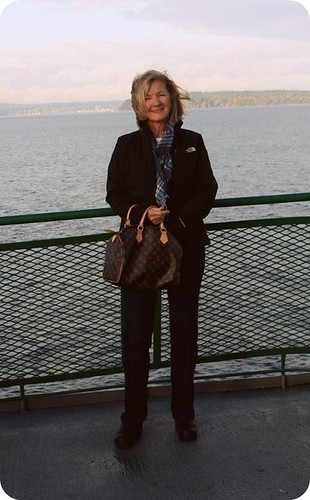 Mom on the Vashon ferry