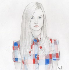 Elle Fanning (Gabriel Dionisio Ramos) Tags: portrait fashion mxico illustration portraits