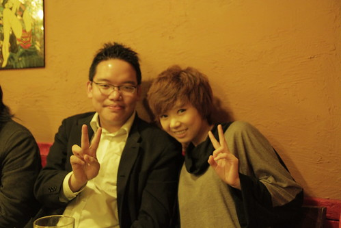 With Teng Fei at the after party