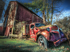 "The old ""47"" on route 44 (Theaterwiz) Tags: autumn ohio abandoned barn truck canon vintage rust hdr criswell rustyandcrusty promote photomatix ruralohio canon1022efs highdynamicrangephotography 13exposures wrecksandruins canon7d 1947dodge promotecontrol promoteremotecontrol theaterwiz theaterwizphotography"