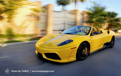 Ferrari 16M Scuderia Spider [Explored & Front Page] (Tareq Abuhajjaj | Photography & Design) Tags: auto roof light sky italy black cars car sport yellow race speed dark photography design spider photo high nice nikon flickr power top wheels hard dream fast gear pic f1 ferrari saudi arabia manual carbon rims riyadh scuderia v8  ggg 2010 ksa 070 tareq 2011  16m       platinumphoto d700      foilacar tareqdesigncom tareqmoon tareqdesign  abuhajjaj