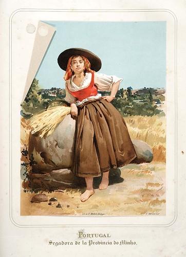 020-Portugal-Segadora de la Provincia do Minho-Las Mujeres Españolas Portuguesas y Americanas 1876-Miguel Guijarro