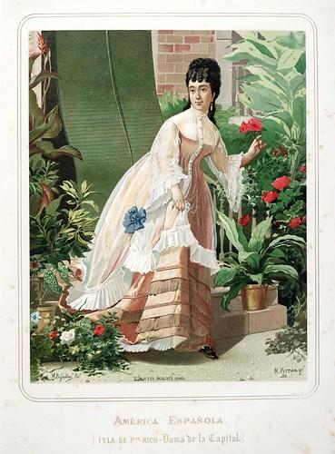003-Isla de Puerto Rico-Dama de la capital-Las Mujeres Españolas Portuguesas y Americanas 1876-Miguel Guijarro