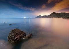 Colores nocturnos (SanchezCastillejo) Tags: beach sony paisaje murcia nocturna 1020 cartagena nigh portman alhama a700 castillejo