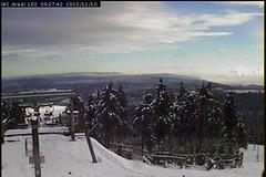 Sníh v Krušných horách