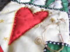 Eu amo o natal * (Estefnia Zica) Tags: xmas natal heart corao patchwork estefaniazica cabeadepapel fanazica fanabezica