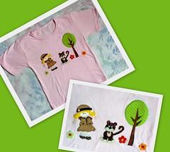 Camiseta Safari (Patch For Kids) Tags: flores jardim joaninha borboletas patchcolagem camisetascustomizadas patchapliqu