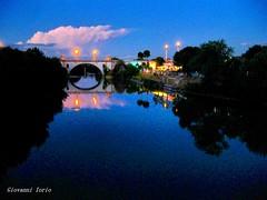 Luci sul Tevere (ioriogiovanni10) Tags: notte tramonto fiumetevere canon nuvole sky fiume luci città rome river tevere pontemilvio roma