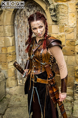 IMG_9473.jpg (Neil Keogh Photography) Tags: silver whitbygothweekend steampunk sword shoulderguards viking brown steampunkdress armguards red warrior goth armour blouse whitby top female woman whitbygothicweekendapril2017 facepaint black gothic trousers leather waistcoat white