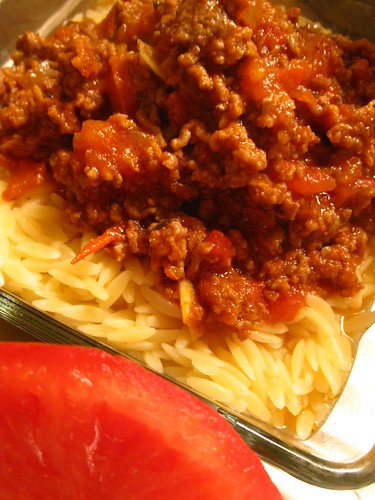 Rizoni with beef bolognaise