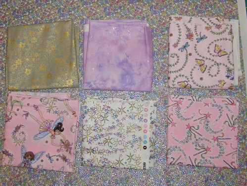 baby girl quilt FQ pack