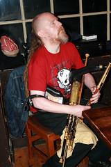 Musicans Belfast bar 05-12-09 (2) (emainmacha) Tags: ireland bar pub belfast violin fiddle session irishmusic craic musicans irishsession uilleanpipes uilleanpiper