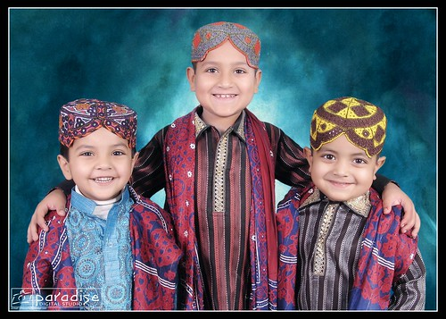 Wearing Sindhi Cultural