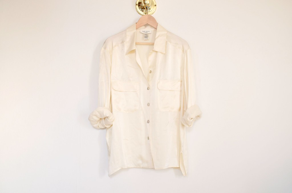 vintage oversized silk top