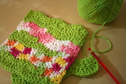 ripple dishcloth