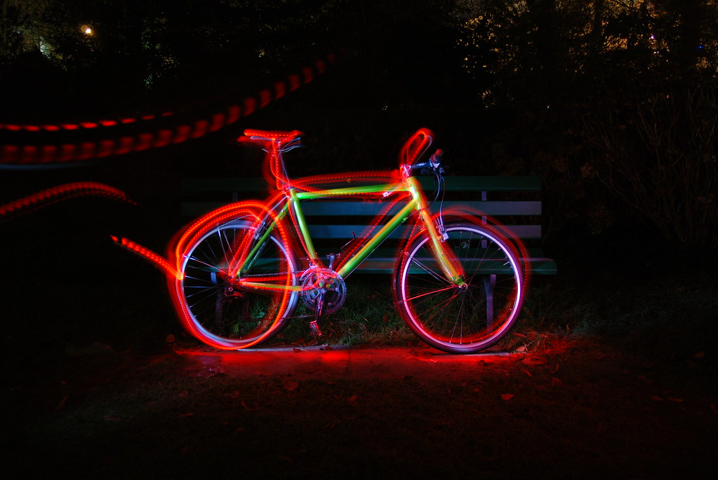 painting with light - my bike