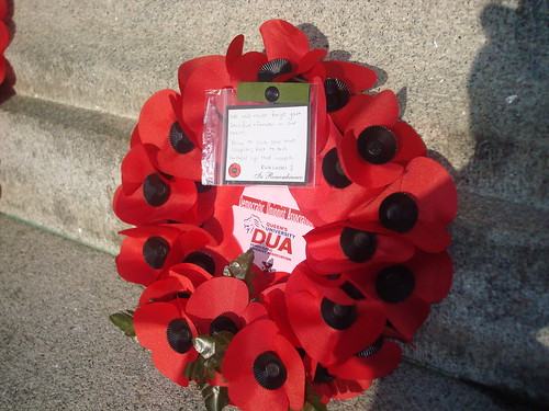Wreath laid on behalf of the DUA