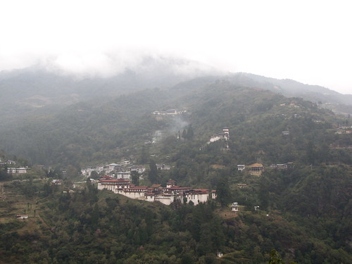 Trongsa Dzong across the valley