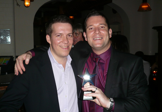 Richard and Chris, and of course the award!