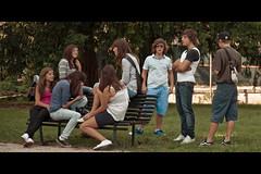 Italian teen story 3/3 (Fabrice Drevon) Tags: park girls italy get boys nikon italia flirt candid story teen together teenager cinematic vicenza d90 1685mm fabricedrevon