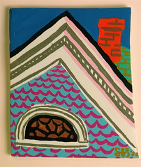 Home Detail (spinadelic) Tags: roof chimney house art home window rock painting acrylic little gingerbread arkansas kr stevespencer dtail