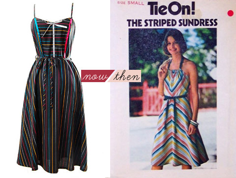 Licorice Stripe Dress available @ Adorevintage.com
