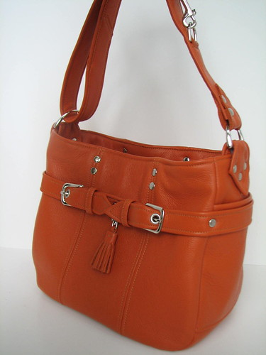 Orange Buckle Bucket