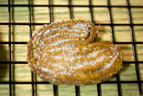 sugared, not caramelized, palmier