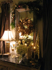 MOBILE BAY ARTICLE THAT APPEARED THIS YEAR (LenaeDenson.com) Tags: christmas tree gold mirror orchids cone chocolate hydrangeas freshfruit redandgreen flocked