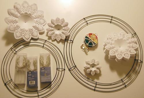 doily wreath supplies