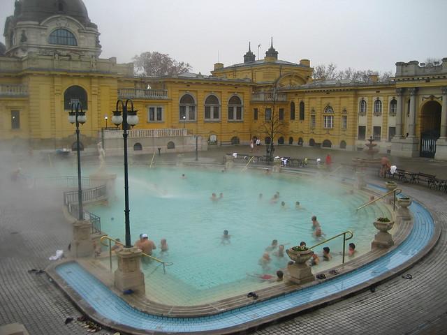 At Széchenyi Gyógyfürdő (Széchenyi Medicinal Bath)
