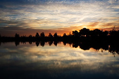 KB1_9303 (Konrad Blum) Tags: sunset reflection silhouette southafrica nikon dam d200 1870mm stellenbosch waterscape westerncape stellenrustroad gracelandvineyards