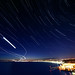 Star Trails,Planes & Iridium Flare Over Nice