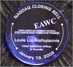 Loula has received many awards in her life, including being honored by NASDAQ.