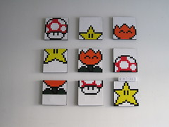 Super Mario World: Bonus Game Screen Shot Paintings (anenemyairship) Tags: art painting acrylic nintendo mario pixel 8bit supermarioworld bonusgame