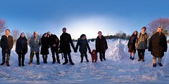 Snowball Familly Picture (gadl) Tags: panorama snow france robert kim ben 21 gimp neige oma tiana reims parc karol lagrange hugin makaya enblend equirectangular guno gadl tellissa maza34 51100 lolagrange