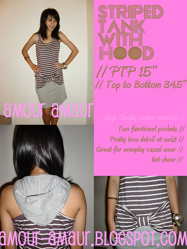 striped tank dress with hood