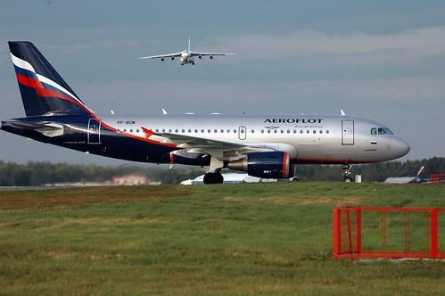 Airbus A319 der russischen Fluggesellschaft Aeroflot