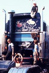 A2 The Crew Cleaning HHH @ 85 LA Fairgrounds Show Pamona-3 - CloseUp (fotofreddie1) Tags: friends boy boys truck friend freunde freund coe jungs junge kenworth showtruck cabover truckshow aerodyne kenworthk100 showteam kenworthaerodyne k100aerodyne